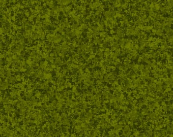 Avocado Green Solid Textured Fabric - Quilting Treasures QT Basics Color Blend - 23528 F - Priced by the 1/2 yard