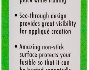 Precision quilting Fusing Mat - Applique Mat -  Iron & Craft Sheet - includes Teflon pressing sheet - 12x18 Inch Mat