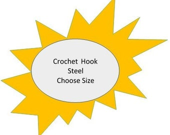 Steel Crochet Hook - Clover or Boye/Wrights - Choose Size - sold by the each