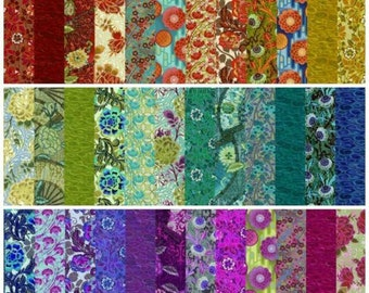 Floral Strips - Pastiche 2.5 Inch Strips - In The Beginning - JYG SSACW - Priced by the Fabric Roll (36-strips)
