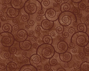 Harmony Blender Fabric - Curly Scroll by Quilting Treasures 24778 A Sable  - Priced by the 1/2 yard