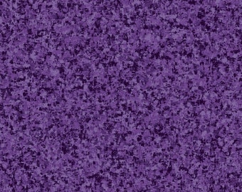 Purple Grape Solid Textured Fabric - Quilting Treasures QT Basics Color Blender - 23528 VJ - Priced by the 1/2 yard