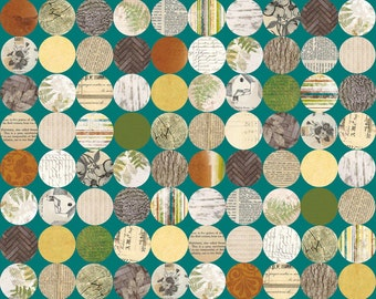Circle Fabric - Trail Mix Polka Dots by Bo Bunny for Riley Blake C4013 Teal - Priced by the 1/2 yard