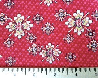 CLoseout - Floral Fabric - Little Floral in Pink from Aubrey by Studio E Fabrics 1722 22 - SOLD by the yard