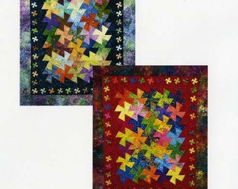Mini Quilt Pattern - Twister Twister by Amy's Wagon Wheel Creations AWWC10