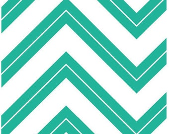 Chevron Fabric - Cruzin' Zig Zag by Barbara Jones of QuiltSoup for Henry Glass 5993 01 Teal blue - Priced by the 1/2 yard