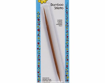 Bamboo Stiletto - Finger Protector - EPP - - Applique - Sewing Aide - Collins 3168