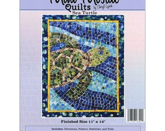 Sea Turtle Mosaic - Mini Mosaic Quilts From Oy Vey Quilt Designs By Cheryl Lynch - MM390 - DIY Pattern
