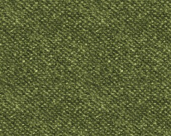 Woolies Flannel Fabric, Light Texture, Printed Nubby Tweed, Faux Wool - by Maywood Studios Green F18507 G - Priced by the 1/2 yard