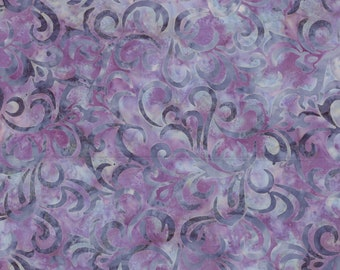 Swirl Fabric - Batik -  Coastal Chic - Maywood Studio MASB21 22 Medium Purple - Priced by the half yard