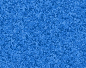 Ultra Blue Solid Textured Fabric - Quilting Treasures QT Basics Color Blend - 23528 YZ - Priced by the 1/2 yard