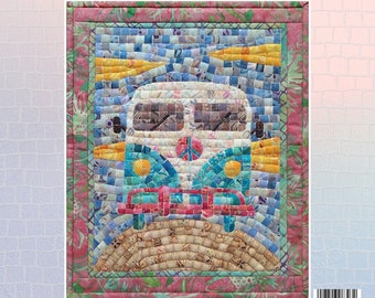 Road Trip Camper Van Mosaic - Mini Mosaic Quilts From Oy Vey Quilt Designs By Cheryl Lynch - MM393 - DIY Pattern