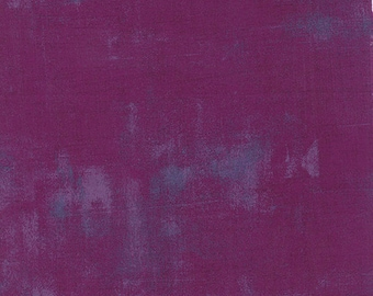 Purple Textured Fabric - Plum Grunge by BasicGrey for Moda Fabrics 30150 81 Purple with blue accent - Priced by the 1/2 yard