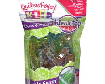 Fabric Clips, Binding Clips, Art Clips - Perfect Klip - Mini Me Klip It Simple Seam - 50ct bag, small - Choose Color Pack