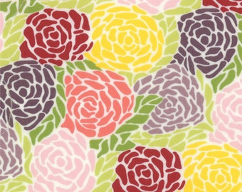 Rose Fabric - Mosaic from Chantilly by Lauren and Jessi Jung for Moda Fabrics 25071 12 Berry - Priced by the 1/2 yard