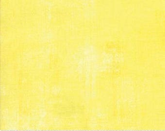 Yellow Textured Fabric - Lemon Drop Grunge Basics by BasicGrey for Moda Fabrics 30150 321 -  Light Yellow - Priced by the 1/2 yard