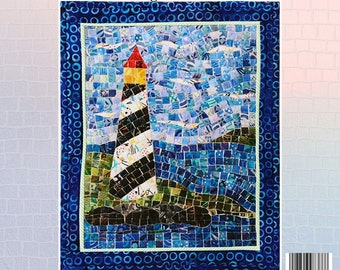 Lighthouse Mosaic - Mini Mosaic Quilts From Oy Vey Quilt Designs By Cheryl Lynch - MM388 - DIY Pattern