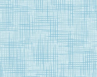 Harmony Blender Fabric - Basket Weave Fabric, Woven Texture Print by Quilting Treasures 24776 QB Blue Lagoon  - Priced by the 1/2 yard