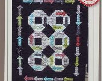 "Layer Cake Pattern - Are we There Yet? Border Creek Station by Sherri Hisey - BCS 1129 - DIY Project - Finishes 55""x70"""