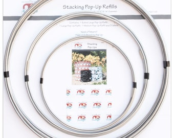 Stacking Pop Ups Refill Rings -  FQG 126 - Joanne Hillestad  -  DIY Project - (3) Rings - Pattern Sold Separately