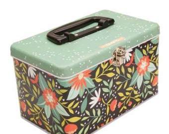 Quilt in a Tin - Premium Quilting Cotton in a Decorative Tin - Total 3 yards + pattern & Tin Box