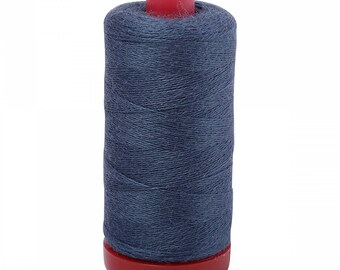 Aurifil 12wt Wool Thread - Wool Lana Acrylic/Wool Embroidery & Quilting Thread 12 wt - 50% wool - Navy (Battleship) 8765