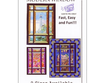 Quilt Pattern - Modern Window Focus Feature by Quilt Woman - DIY Project - includes two size options