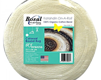 Bosal 50-Yard Roll - Organic Cotton Katahdin on a Roll - 390KB-50 - sold by the roll 2.25-2.50 inch x 50 yards - Jelly Roll Rug Batting