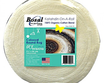 Bosal 50-Yard Roll - Organic Cotton Katahdin Roll - 390KB-50 - sold by the roll 2.25-inch or 2.50-inch x 50 yards - Jelly Roll Rug Batting