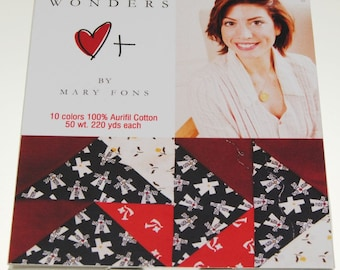Aurifil 50wt Thread Collection - Mary Fons Small Wonders Thread Set - 10 spool  220yd per spool, Cotton