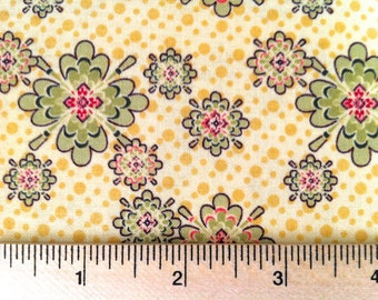 Closeout - Small Floral Fabric - Aubrey Little Floral in Yellow by Studio E Fabrics E60 1722 44 - Sold by the yard
