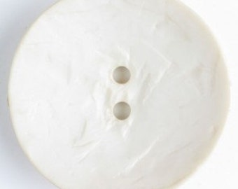 Large Plastic button - 1.7 inches,45 mm - DIll Button white 390208