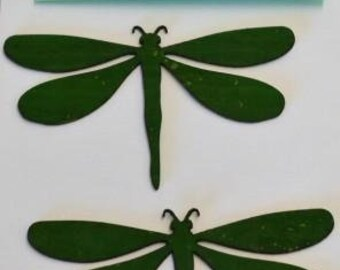"Dragonfly Cork - Laser cut Natural Cork Fabric - PMQ Corky Impressions - Fusible backing - 2 items per package, approx 3"" x 2"""