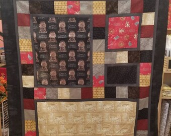 """Game of Thrones Fabric Quilt Kit, Map of Westeros, Iron Throne, Sigil Emblems - Springs Creative - DIY Kit - Finished Size 54""""x66"""""""