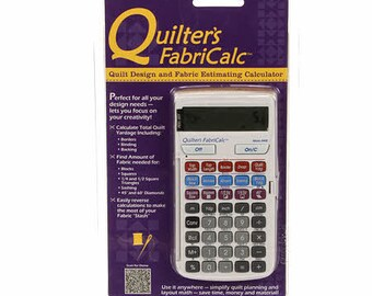 Quilters Calculator - FabriCalc - Quilt Design Fabric Estimating Calculator - Calculate Industries - Inches or Metric