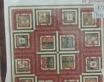 """Quilt Kit / Table Topper Featuring From the Market by Janet Pugh for Wilmington - 63""""x63""""  DIY Kit"""