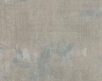 Gray Textured Fabric - Grunge Basics by BasicGrey for Moda Fabrics 30150 278 Gris -  Light Gray - Priced by the 1/2 yard