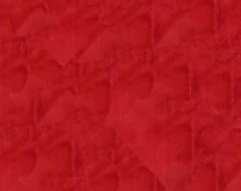 Java B7900 Red Batik Fabric - Tonga Blender from Timeless Treasures - Red - Priced by the 1/2 yard