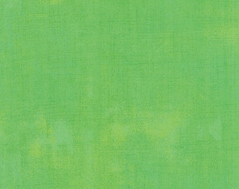 Green Textured Fabric - Kiwi Grunge by BasicGrey for Moda Fabrics 30150 304 Light Green - Priced by the 1/2 yard