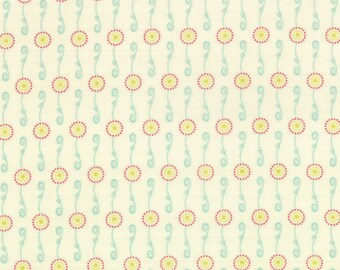 Cog Wheel Fabric - Bicycle Centerpiece from Wishes by Sweetwater for Moda Fabrics 5534 26 Vanilla - 1/2 yard