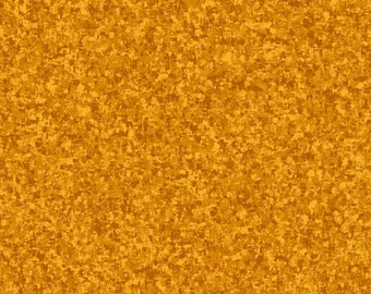 Amber Yellow Solid Textured Fabric - Quilting Treasures QT Basics Color Blend - 23528 SA - Priced by the 1/2 yard