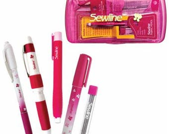 Sewline Gift Set - Glue Pen - Pencil Trio - Marking Pencil - Temporary Glue - EPP-  Basting - Temporary Adhesive - Refillable Pen