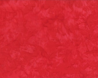 Solid Batik Fabric - Wilmington Rock Candy Batik - Washed Solid -  2678 333 Red - Priced by the half yard