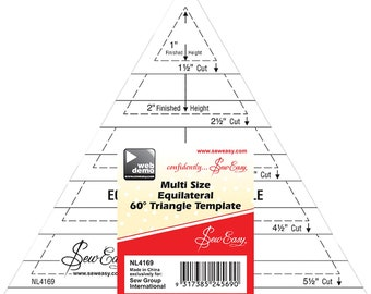 60-degree Equal Triangle Ruler - 60-degree ruler - by Tacony Sew Easy - 5-1/2 Inch Acrylic 4169