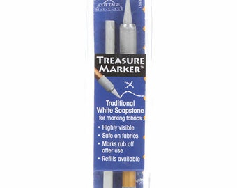 Soapstone Marking Pen - Cottage Mills Treasure Marker TM 600 - white soapstone