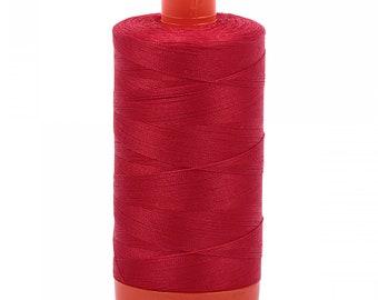 Aurifil 50wt thread - Christmas Red - 2250 - 50wt Mako, 1422 yards