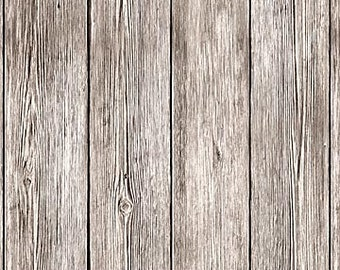 Weathered Plank Fabric - Naturescapes - Landscape  -  Northcott - 21406 92 Gray - priced by the half yard