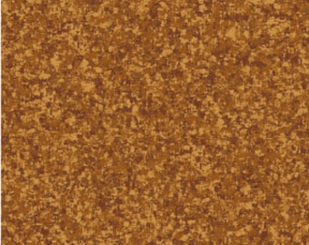 Nutmeg Solid Textured Fabric - Quilting Treasures QT Basics Color Blender - 23528 A - Priced by the 1/2 yard