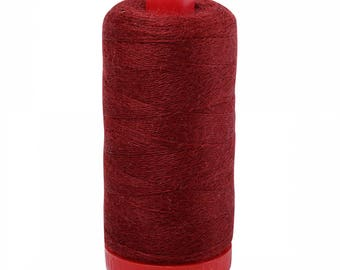 Aurifil 12wt Wool Thread - Wool Lana Acrylic/Wool Embroidery & Quilting Thread 12 wt - 50% wool - Burgundy 8265