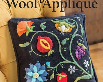 Wool Pattern Book - Gorgeous Wool Applique - Softcover by Deborah Gale Tirico for CT Publishing # 11146CT 8 projects - DIY